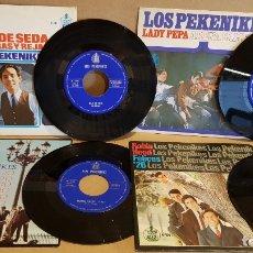 Discos de vinilo: LOS PEKENIKES / CONJUNTO DE 4 SINGLES DE LOS '60 / DE BUENA CALIDAD. ***/***. Lote 168023292