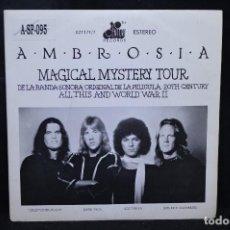 Disques de vinyle: AMBROSIA - MAGICAL MYSTERY TOUR / COWBOY STAR - SINGLE. Lote 176327874