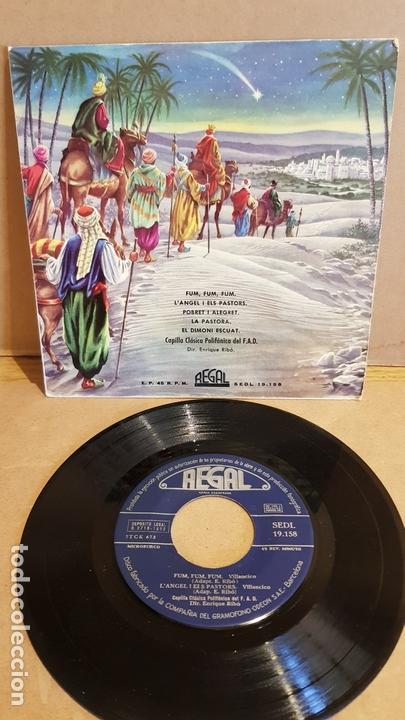 VILLANCICOS / CAPILLA POLIFÓNICA DEL F.A.D. / EP - REGAL1958 / MBC. ***/*** (Música - Discos de Vinilo - EPs - Otros estilos)
