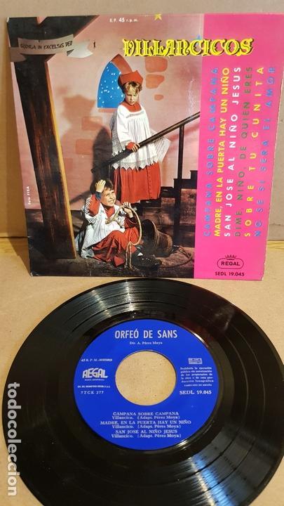 ORFEÓ DE SANS / VILLANCICOS / EP - REGAL-1963 / MBC. ***/*** (Música - Discos de Vinilo - EPs - Otros estilos)