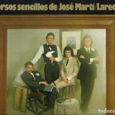 Discos de vinilo: LAREDO : VERSOS SENCILLOS DE JOSÉ MARTÍ. LP. MOVIEPLAY, 1975. Lote 168048464