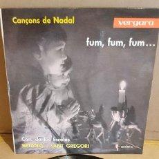 Discos de vinilo: CORS DE LES ESCOLES BETANIA I SANT GREGORI / CANÇONS DE NADAL / EP - VERGARA-1962 / MBC. ***/***. Lote 168051760
