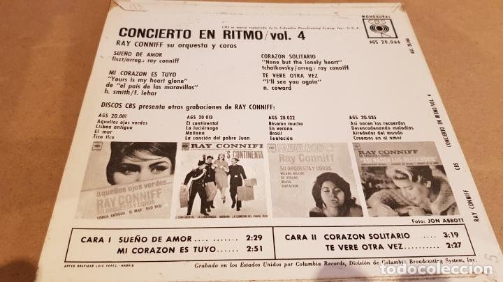 Discos de vinilo: RAY CONNIFF / CONCIERTO EN RITMO. VOL 4 / EP - CBS-1963 / MBC. ***/*** - Foto 2 - 168057716