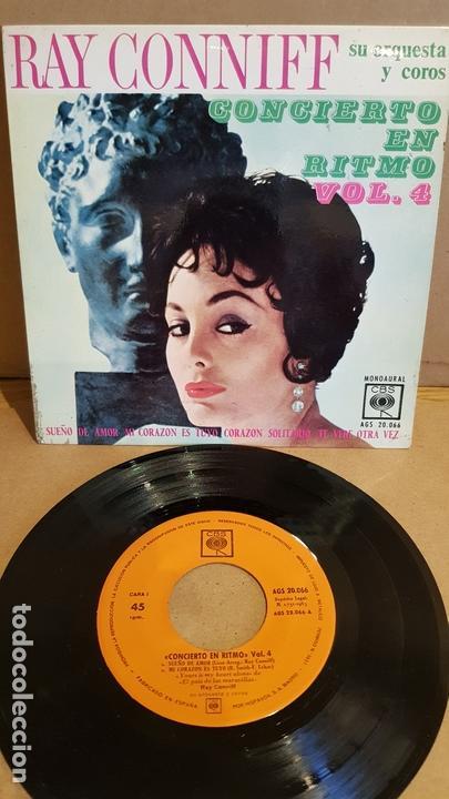 RAY CONNIFF / CONCIERTO EN RITMO. VOL 4 / EP - CBS-1963 / MBC. ***/*** (Música - Discos de Vinilo - EPs - Orquestas)