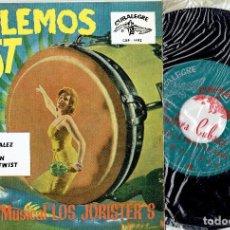 Discos de vinilo: LOS JORISTER'S RAPIDO GONZALEZ / TWIST /TWIST AGAIN / LECCION TWIST EP CUBALEGRE 1962 / A ESTRENAR. Lote 168058564
