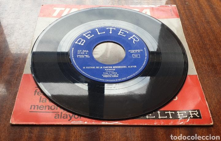 Discos de vinilo: TINA Y TESA - Siempre/+1(Belter, 1966) Festival de la Canción Menorquina Alayor - Foto 3 - 168059566