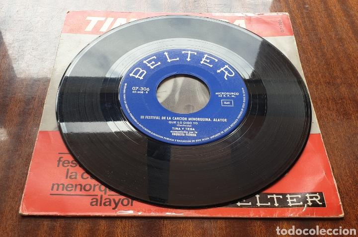 Discos de vinilo: TINA Y TESA - Siempre/+1(Belter, 1966) Festival de la Canción Menorquina Alayor - Foto 4 - 168059566