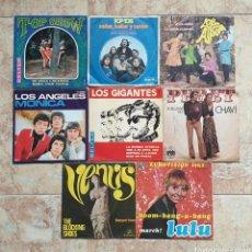 Discos de vinilo: LOTE 8 SINGLES EPS - TOP SHOW, POP-TOPS, LOS ALBAS, LOS GIGANTES, LOS ANGELES, PERET, LULU,, ETC. Lote 168060108