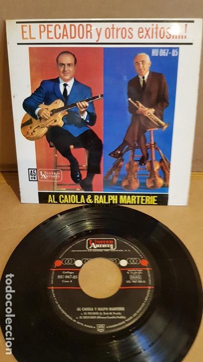 AL CAIOLA & RALPH MARTERIE / EL PECADOR / EP - UNITED ARTISTS-1962 / MBC. ***/*** (Música - Discos de Vinilo - EPs - Orquestas)