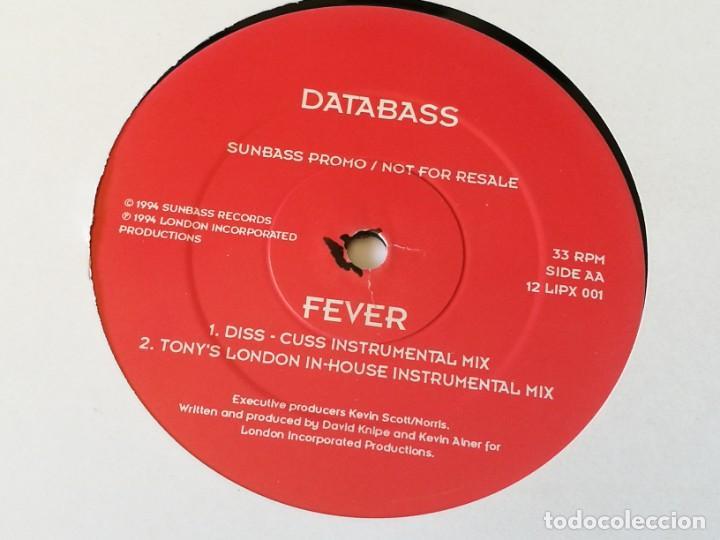 DATABASS - FEVER - 1994 (Música - Discos de Vinilo - Maxi Singles - Techno, Trance y House)