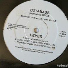 Discos de vinilo: DATABASS FEATURING SUZY - FEVER - 1994. Lote 168064008