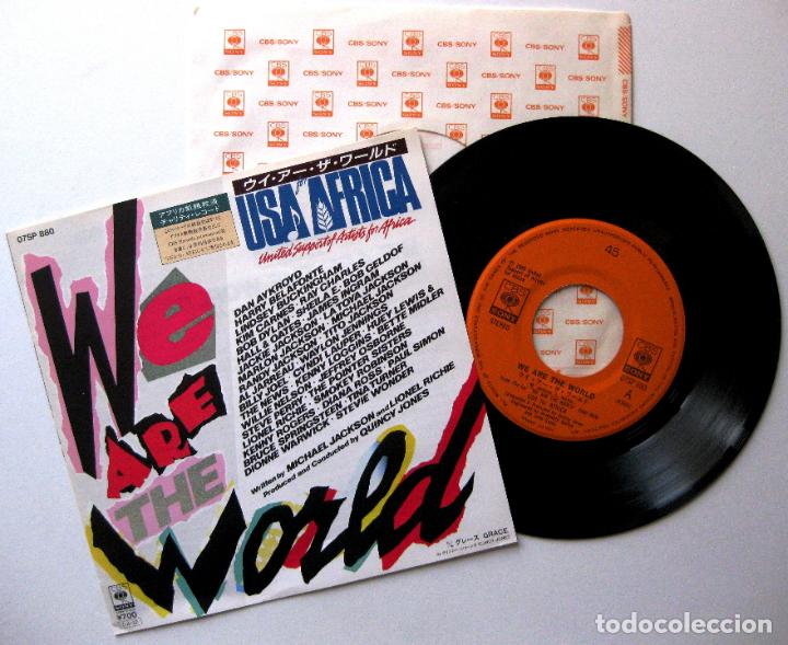 MICHAEL JACKSON (USA FOR AFRICA) WE ARE THE WORLD - SINGLE CBS/SONY 1985 JAPAN (ED. JAPONESA) BPY (Música - Discos - Singles Vinilo - Funk, Soul y Black Music)