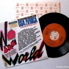 Discos de vinilo: MICHAEL JACKSON (USA FOR AFRICA) WE ARE THE WORLD - SINGLE CBS/SONY 1985 JAPAN (ED. JAPONESA) BPY. Lote 168071332