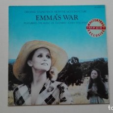 Discos de vinilo: EMMA'S WAR LP JOHN WILLIAMS FILMTRAX 1987 UK. Lote 168083388