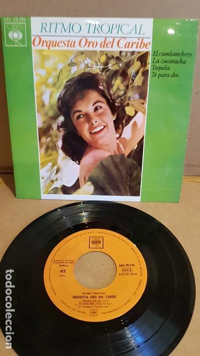 ORQUESTA ORO DEL CARIBE / RITMO TROPICAL / EP - CBS-1964 / MBC. ***/*** (Música - Discos de Vinilo - EPs - Orquestas)