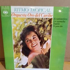 Discos de vinilo: ORQUESTA ORO DEL CARIBE / RITMO TROPICAL / EP - CBS-1964 / MBC. ***/***. Lote 168086496