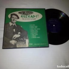 Discos de vinilo: THE BASQUES -EUZKADI / SONGS AND DANCES OF THE BASQUE (JUAN ONATIBIA )LP 33 RPM/ FOLKWAYS RECORDS . Lote 168088840