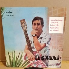 Discos de vinilo: LUIS AGUILÉ / ESTA NOCHE MI AMOR, ESTA NOCHE / EP-ODEON-1961 / MBC. ***/***. Lote 168089728