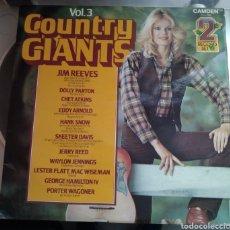 Discos de vinilo: COUNTRY GIANTS. VOLUMEN 3. DOBLE LP. Lote 168098488
