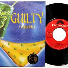 Discos de vinilo: LIME - GUILTY - CULPABLE - SINGLE POLYDOR 1983 ITALO-DISCO BPY. Lote 168100132