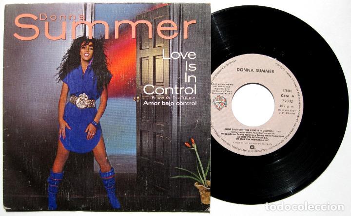 DONNA SUMMER - LOVE IS IN CONTROL (FINGER ON THE TRIGGER) - SINGLE WARNER BROS. RECORDS 1982 BPY (Música - Discos - Singles Vinilo - Funk, Soul y Black Music)