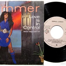 Discos de vinilo: DONNA SUMMER - LOVE IS IN CONTROL (FINGER ON THE TRIGGER) - SINGLE WARNER BROS. RECORDS 1982 BPY. Lote 168101356