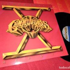 Discos de vinilo: COMMODORES HEROES LP 1980 MOTOWN GATEFOLD USA . Lote 168128608