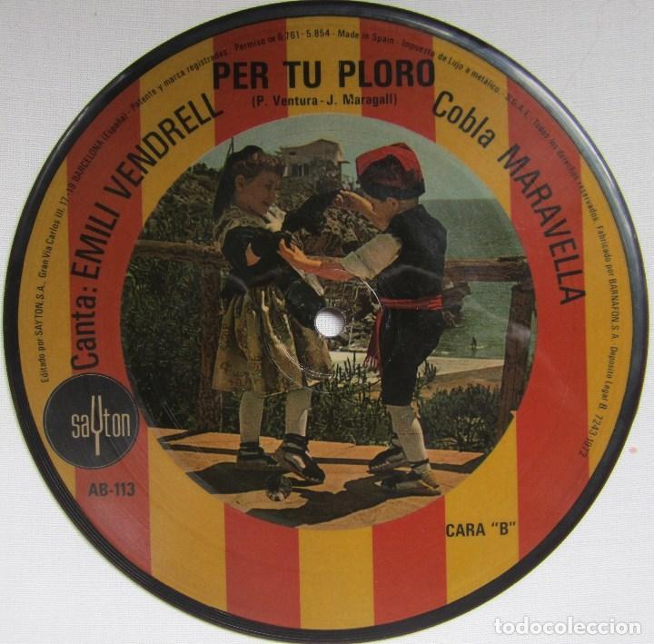 Discos de vinilo: COBLA MARAVELLA (CANTA EMILI VENDRELL): LA SANTA ESPINA / PER TU PLORO. FOTODISCO (PICTURE DISC) - Foto 2 - 168141016