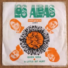 Discos de vinilo: LOS ALBAS A LITTLE BIT HURT SINGLE VERGARA. Lote 168174940