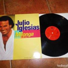 Discos de vinilo: JULIO IGLESIAS MILONGA SENTIMENTAL REMIXES MAXI SINGLE VINILO PROMO DEL AÑO 1992 CONTIENE 3 TEMAS. Lote 168178328