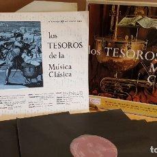 Discos de vinilo: LOS TESOROS DE LA MÚSICA CLÁSICA / DISCOTECA SELECCIONES / CAJA-ÁLBUM CON 10 LP / BUENA CALIDAD.. Lote 168180284