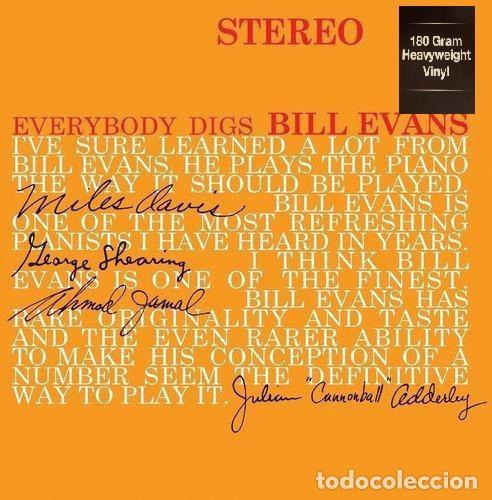 BILL EVANS TRIO * LP HQ VIRGIN VINYL 180G * EVERYBODY DIGS BILL EVANS * PRECINTADO!! (Música - Discos - LP Vinilo - Jazz, Jazz-Rock, Blues y R&B)
