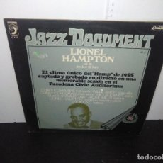 Discos de vinilo: DISCO VINILO LIONEL HAMPTON AND THE JUST JAZZ ALL STARS DISCOPHON 4116 JAZZ DOCUMENT VOL 3 1973. Lote 168188152