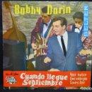 Discos de vinilo: BOBBY DARIN - MULTIPLICACIÓN / CUANDO LLEGUE SEPTIEMBRE - SINGLE . Lote 168195948