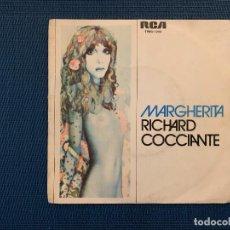 Discos de vinilo: RICHARD COCCIANTE – MARGARITA SELLO: RCA – PB-6045 FORMATO: VINYL, 7 , SINGLE PAÍS: SPAIN. Lote 168199056