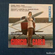 Discos de vinilo: GIORGIO GABER ?– CIAO CIAO CIAO / SNOOPY CONTRA EL BARON ROJO SELLO: BELTER ?– 07-390 . Lote 168201052