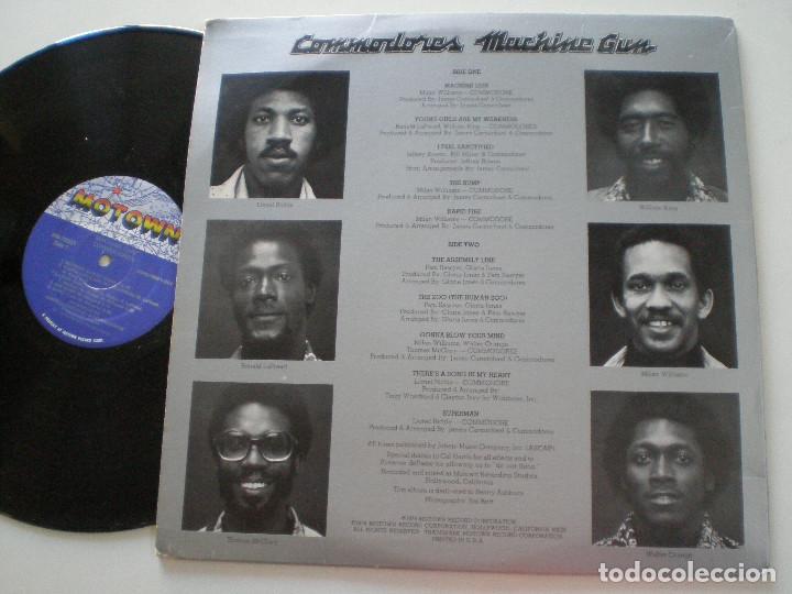 Discos de vinilo: COMODORES - Machine Gun - LP MOTOWN USA 1974 - Foto 2 - 168207172