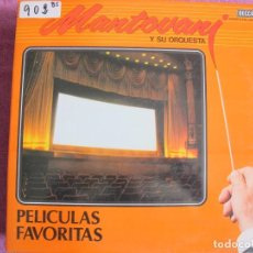 Discos de vinilo: LP - MANTOVANI Y SU ORQUESTA - PELICULAS FAVORITAS (DOBLE DISCO, SPAIN, DECCA RECORDS 1980). Lote 168207536