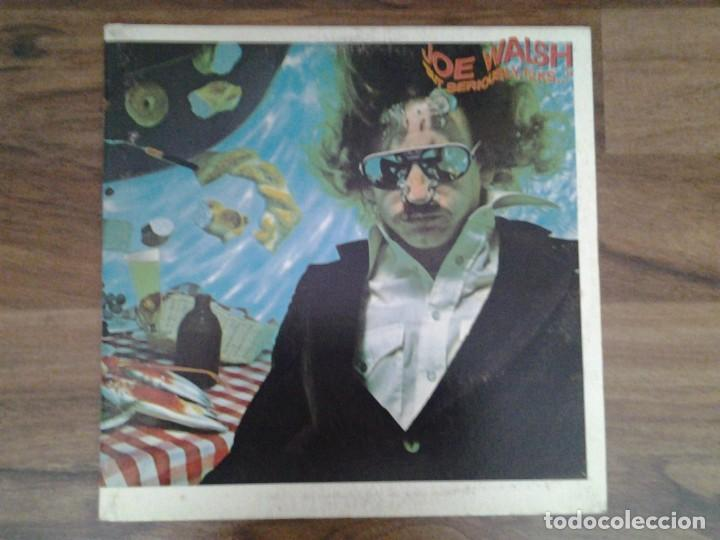 JOE WALSH - BUT SERIOUSLY, FOLKS - LP ASYLUM RECORDS GATEFOLD SLEEVE ED. ORIGINAL CANADA 6E -141B (Música - Discos de Vinilo - EPs - Jazz, Jazz-Rock, Blues y R&B)