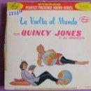 Discos de vinilo: LP - QUINCY JONES Y SU ORQUESTA - LA VUELTA AL MUNDO (SPAIN, MERCURY 1962, VINILO DE COLOR AZUL). Lote 168209944