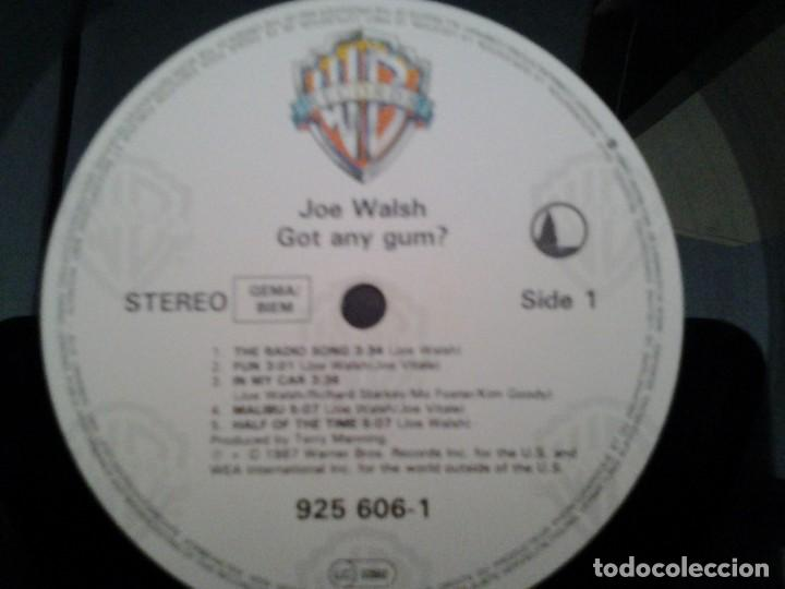 Discos de vinilo: JOE WALSH -GOT ANY GUM- LP WARNER RECORDS 1987 ED. ALEMANA 925 606 BUENAS CONDICIONES. - Foto 2 - 168211148