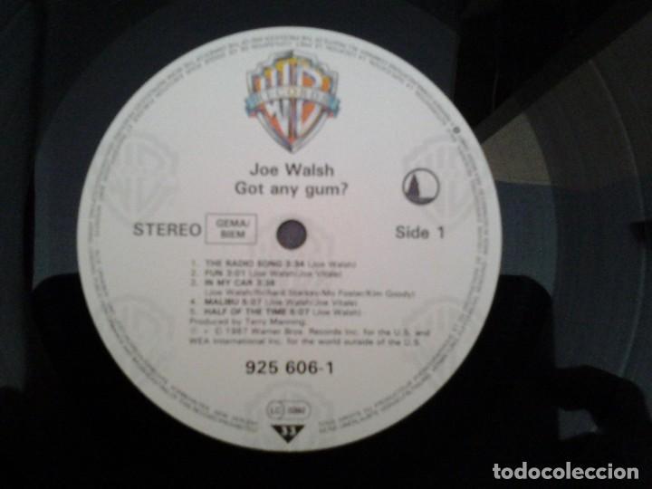 Discos de vinilo: JOE WALSH -GOT ANY GUM- LP WARNER RECORDS 1987 ED. ALEMANA 925 606 BUENAS CONDICIONES. - Foto 4 - 168211148