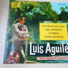 Discos de vinilo: LUIS AGUILÉ, EP, CON RITMO DE TWIST + 3, AÑO 1963. Lote 168221304
