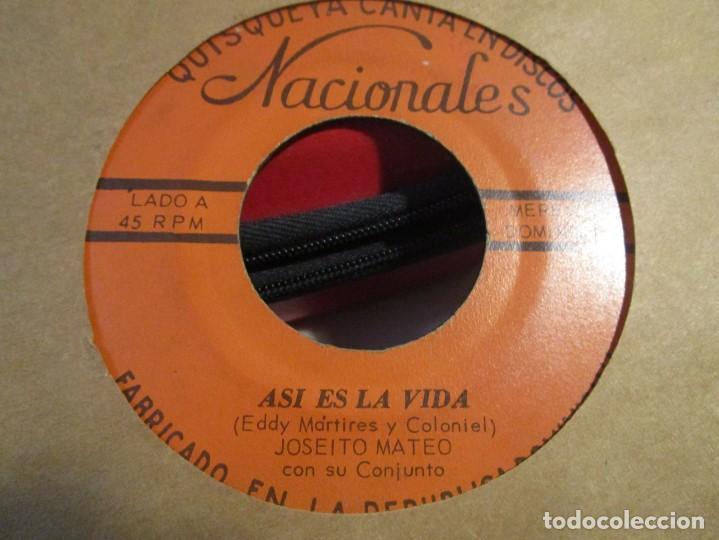 Discos de vinilo: JOSEITO MATEO ASI ES LA VIDA + SALVE LA SABROSONA - Foto 2 - 195289302
