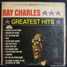 Discos de vinilo: RAY CHARLES // GREATEST HITS // MADE IN USA // (VG VG). LP. Lote 168236064