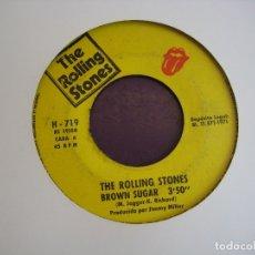 Discos de vinilo: THE ROLLING STONES SG HISPAVOX 1971 - BROWN SUGAR / BITCH - SIN PORTADA. POCO USO. Lote 168246312
