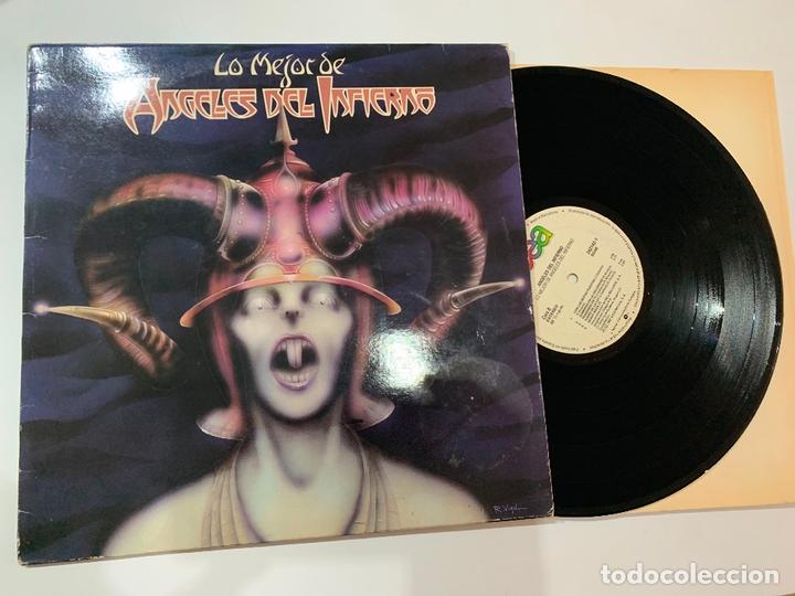 DISCO LP VINILO ANGELES DEL INFIERNO – LO MEJOR DE ANGELES DEL INFIERNO EDICION ESPAÑOLA DE 1987 (Música - Discos - LP Vinilo - Heavy - Metal)