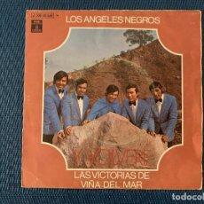 Discos de vinilo: LOS ANGELES NEGROS ?– Y, VOLVERE SELLO: ODEON ?– 1J 006-80.584 FORMATO: VINYL, 7 , 45 RPM, SINGLE . Lote 168279312