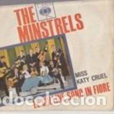 Discos de vinilo: THE MINISTRELS LE COLLINE SONO IN FIORE /KATY CRUELL CBS ITALY SANREMO 65 FACE B RING WEAR. Lote 168284852