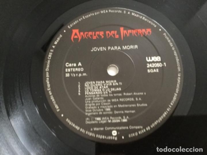 Discos de vinilo: Ángeles del Infierno - joven para morir - Foto 4 - 168285736